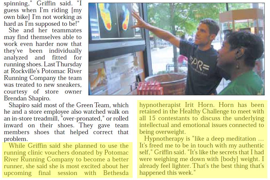 Irit Horn, Weight Loss Hypnosis Expert, in the Gazette Newspaper