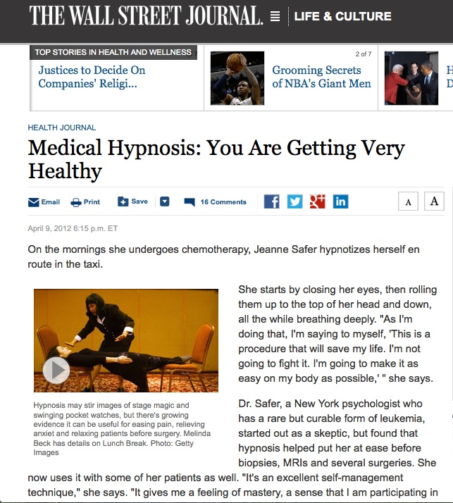 medical hypnosis journal article